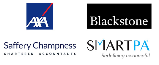 AXA, Blackstone, Saffery Champness, Smart PA